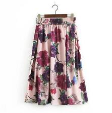 Hot Sale Women's Elegance High waist Flowers Pattern Skirt Just Cavalli Dress