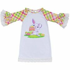 Unique Baby Girls Easter Bunny Easter Shirt Dress Outfit