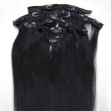"""18"""" 70grams Full Head Clip in 100% Indian Premier Remy 5A Human Hair Extensions"""