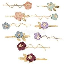 2pcs Charm Camellia Leaves Flower Hair Pins Clips Prom Wedding Bridal Party Gift