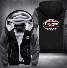 TRIUMPH MOTORCYCLE warm Thicken Hoodie Jacket Cosplay Sweater fleece coat F/S