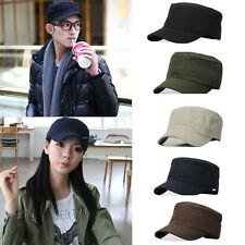 20% Off Outdoor Plain Vintage Army Military Cadet Style Sun Cap Mens Must-have H