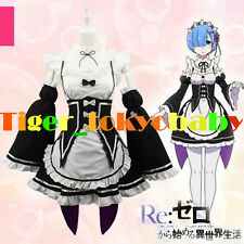 Japan Cosplay Sexy Lolita Ram Maid Outfit Costume Party Skirt Apron Dress