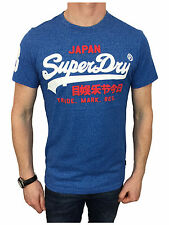 Superdry Mens Vintage Logo Duo T-Shirt in Royal Grit Small