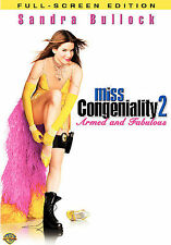 Miss Congeniality 2: Armed and Fabulous (DVD, 2005, Full Frame) New!