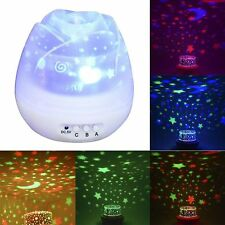 Birthday Gifts Romantic Star Night Light Rotating Sky Cosmos Projector Lamp