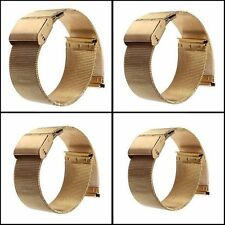 New 18-24mm Stainless Steel Watch Mesh Band Strap Belts Double Clasp Bracelet