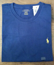 BNWT MENS POLO RALPH LAUREN PONY CREW NECK BLUE CLASSIC FIT T-SHIRT SIZES: S M L