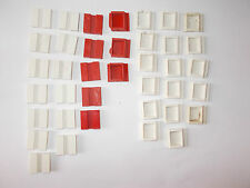 PRE WAR BAYKO 13 WHITE & 5,RED BRICKS, 17 WHITE & 3 RED CORNER BRICKS
