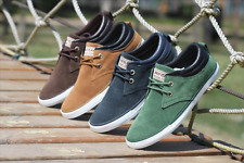 Men Flat Fashion Canvas Shoes Spring Sneakers Casual Lace up Anthletic Trainers