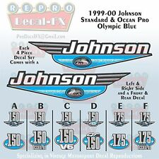 1999-00 Johnson 150/175 HP Olympic Blue Outboard Repro 4 Pc Marine Vinyl Decals