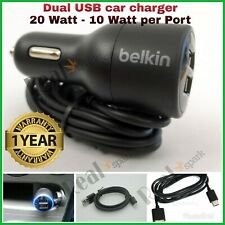 Belkin Dual Usb Car Charger 4.2A For IPhone 6 7 Plus Samsung S4 S5 S6 S7 HTC LG