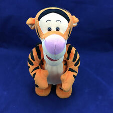 "Talking Bouncing Jumping Tigger 12"" Winnie The Pooh Bouncin Soft Toy Mattel 1998"
