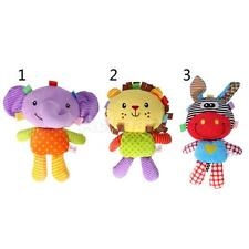 Cartoon Animal Plush Toy Soft Appease Doll Developmental Baby Toy for Infant