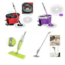 iKayaa Stainless Steel 360° Spin Mop & Bucket Set Foot Pedal / Spray Mop B4W9