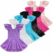 Girls Gymnastics Ballet Dress Toddler Leotard Tutu Skate Skirt Dancewear Costume