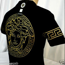 DOUBLE SIDE Nwt Mens Gold DIGI PRINT  Short Sleeve Great Medusa T-Shirt-ALL SIZE