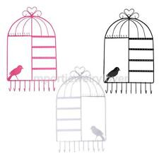 HOT Chic Jewelry Ring Earring Birdcage Stand Display Organizer Holder Show Rack