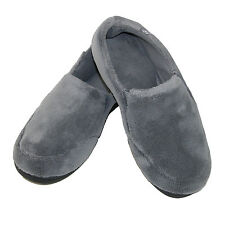 New Isotoner Men's Microterry Memory Foam Indoor/Outdoor Slip-On Slippers
