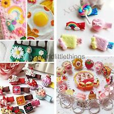 50x Resin Flower Cabochons Flatback Embellishments for Craft Jewelry Making DIY