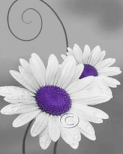 Daisy Right - Purple Floral Home Decor Picture Wall Art Living room