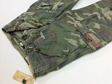Denim & Supply Ralph Lauren Men American US Flag Military Army Camo Cargo Pants