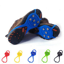 Spikes Shoes Boots Ice Snow Studs Anti-skid Grippers Crampon Walk Cleats 1Pair