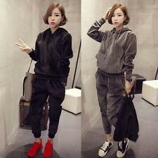 Womens Running TrackSuit Jogging Sport Jacket Suit Set Pants Sweater Hoodie Chic