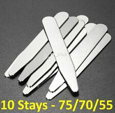 Stainless Steel Metal Collar Stays / Collar Stay / Stiffener- 10 Pieces -3 Sizes