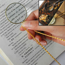 Magnifying Glass Decor Monocle Lens Necklace Magnifier Coin Glass Pendant  SN
