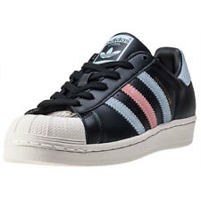 adidas Superstar W Womens Trainers Black Blue New Shoes