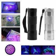 Hot 12 LED Blacklight Invisible Marker Flashlight UV Ultra Violet Torch lot SM