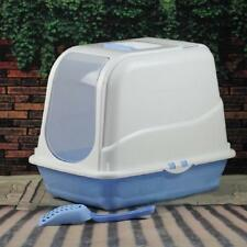 Portable Hooded Cat Toilet Litter Box Tray House With Handle and Scoop New