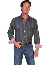 Scully Western Mens Shirt Long Sleeve Button Stripe Dobby Snap PS-131