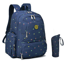 Big Baby Diaper Bag Travel Backpack Organizer with Changing Pad W Stroller Strap