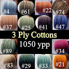 *FREE SHIP* Soft 3 Ply *14 Color Choice* 100% Cotton Cone Yarn Knit Crochet