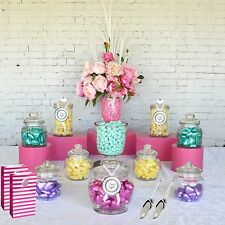 Lolly Jars Candy Buffet x 12 Jars 2 Scoops and 12 x Lolly Bags Apothecary Jars