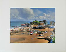 "Tenby Harbour ""Regatta Day"" Limited Edition Mounted Photographic Print 14x11 8x6"