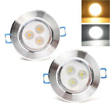 New 3W LED Recessed Ceiling Downlight Spot Lamp Bulb Light Driver White Home HQ