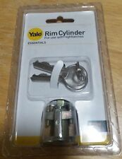 Replacement YALE Rim Cylinder Door Lock Polished Brass/chrome