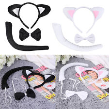 Animal Tail & Ear Headband & Bow Tie 3 pcs Tail Party Little Cat Christmas YK