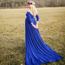 Chiffon Gown Maternity Maxi Wedding Party Dresses Plus Size Photography 6 Color