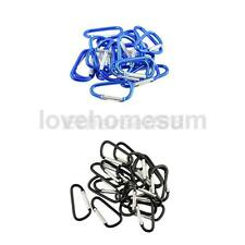 20 Carabiner D-Ring Key Chain Loaded Clip Snap Hook Karabiner Camping Keyring