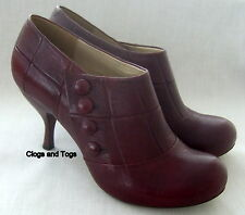 NEW CLARKS HANDCRAFTED ASHA SPIRIT WOMENS BORDEAUX LEATHER SHOES RRP £79.99