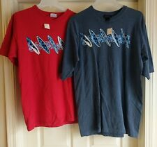 2 Mens NWT New Surfer Surfing Surf Board Short Sleeve Graphic T-Shirt M/Med