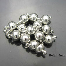 10Sets Silver/Gold Plated Round Ball Magnetic Clasps 6/8mm For Jewelry Making FU