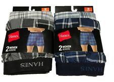 Hanes 2 Pack Woven Boxer - RRP 19.99