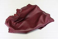Lambskin leather hide skin hides 100% Genuine Leather Wine 5 Sq Ft !!06