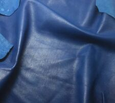 Lambskin leather hide skin hides 100% Genuine Leather Blue 5+ Sq Ft !!05
