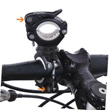Bike Handlebar Torch Holder Bicycle Mount Bracket Clamp for LED Flashlight